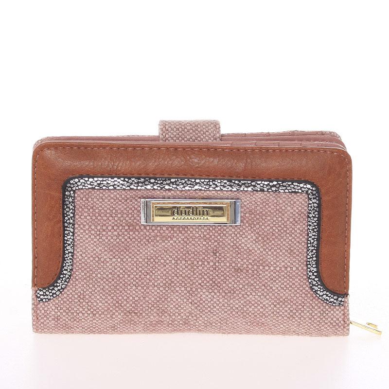 Střední dámská růžová peněženka - Dudlin M330