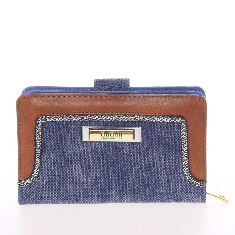 Střední dámská modrá peněženka - Dudlin M330