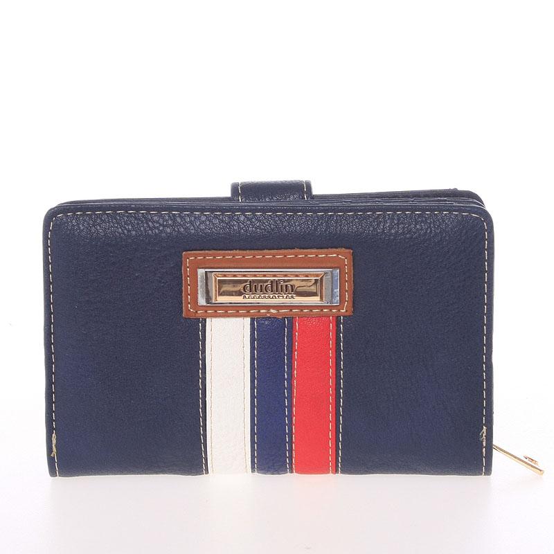 Střední originální dámská modrá peněženka - Dudlin M384