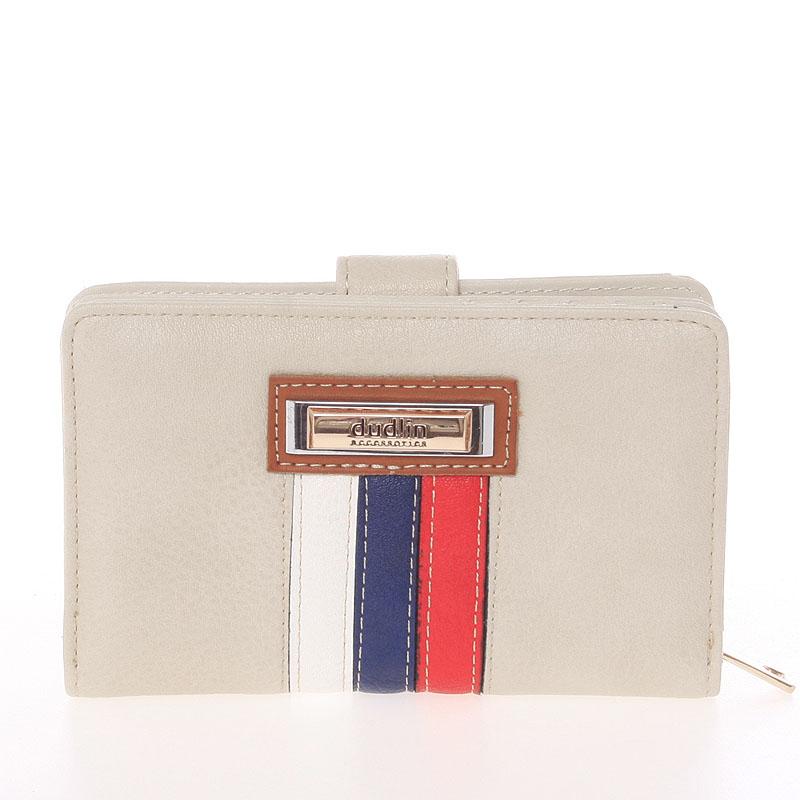 Střední originální dámská béžová peněženka - Dudlin M384