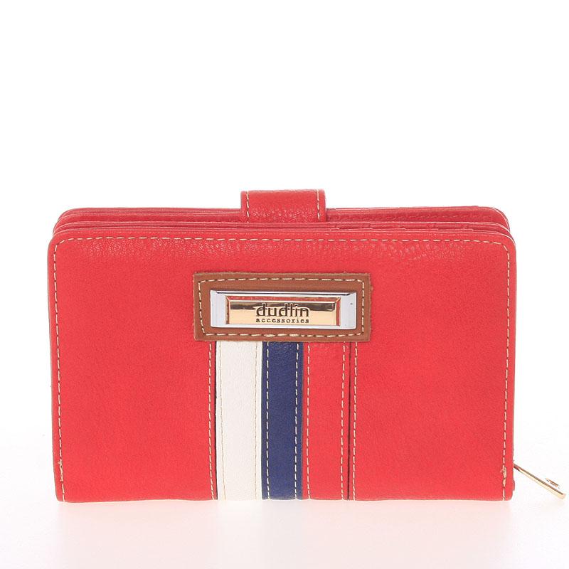Střední originální dámská červená peněženka - Dudlin M384