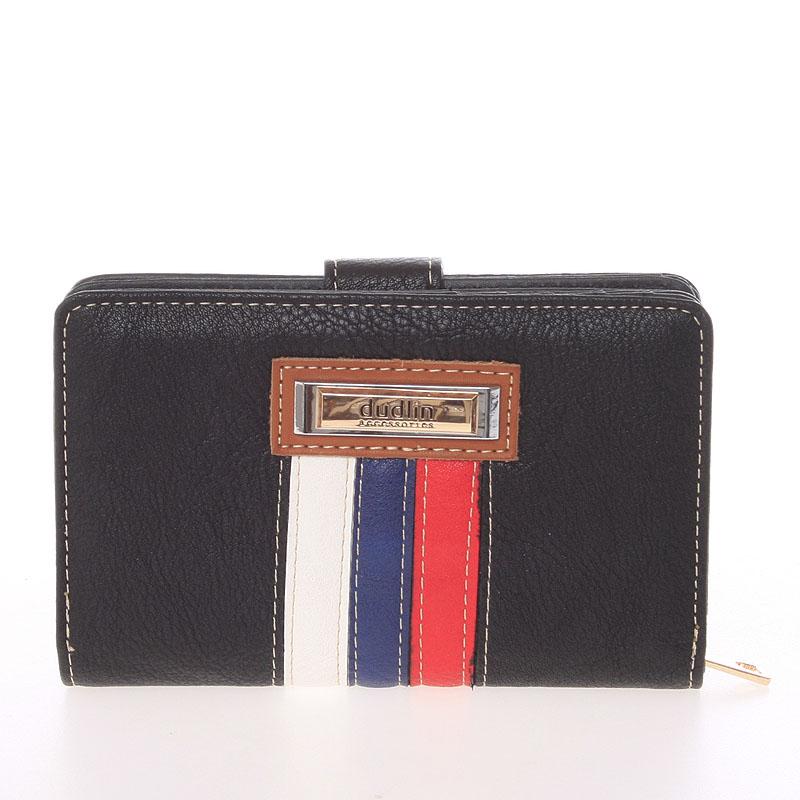 Střední originální dámská černá peněženka - Dudlin M384
