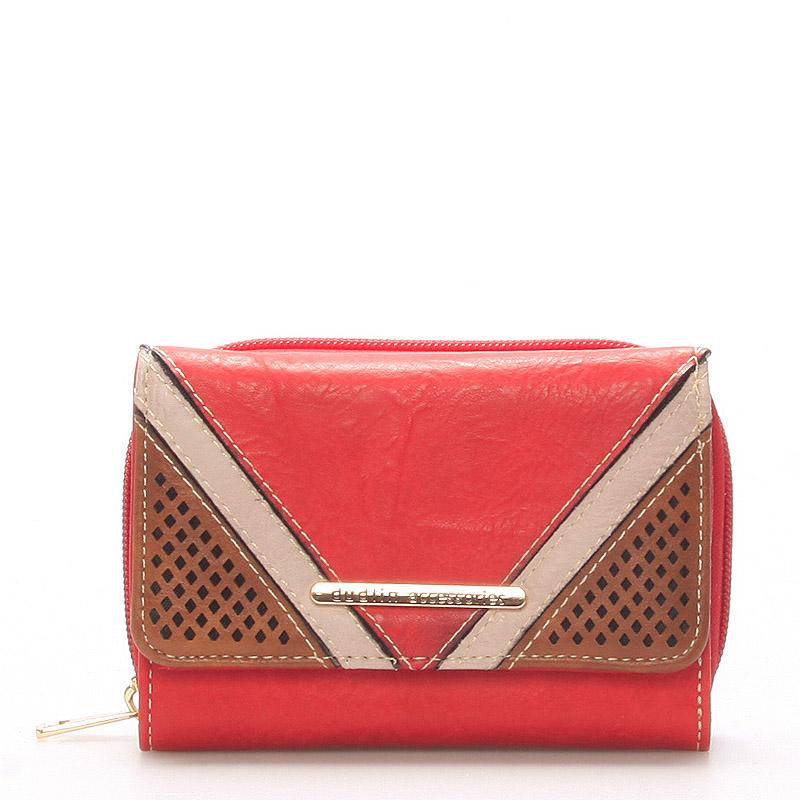 Dámská červená peněženka - Dudlin M239