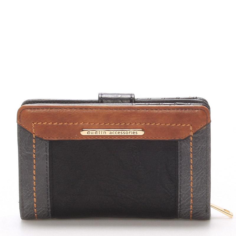 Větší dámská peněženka černá - Dudlin M266