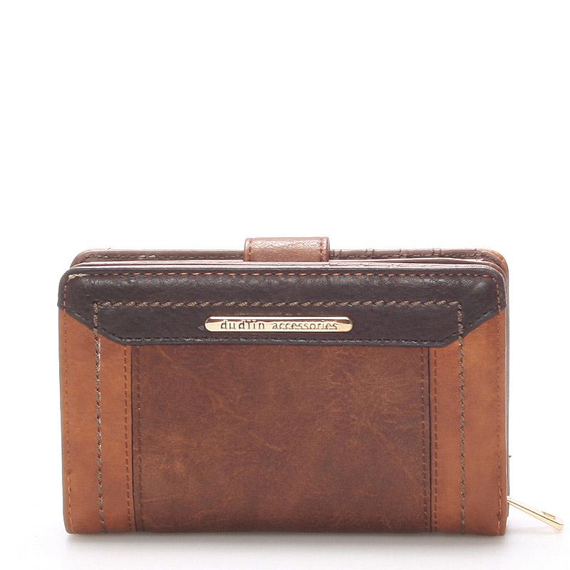 Větší dámská peněženka tmavě hnědá - Dudlin M266