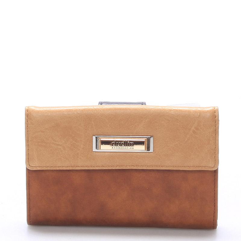 Větší dámská hnědá peněženka - Dudlin M238