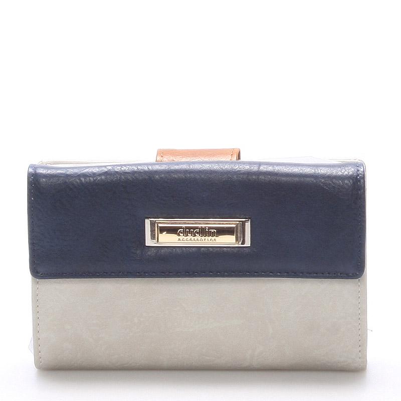 Větší dámská šedá peněženka - Dudlin M238