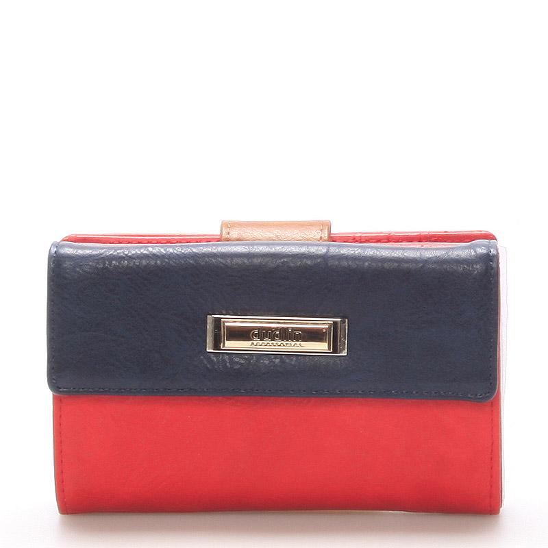 Větší dámská červená peněženka - Dudlin M238
