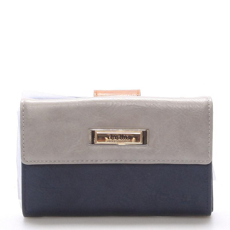 Větší dámská modrá peněženka - Dudlin M238