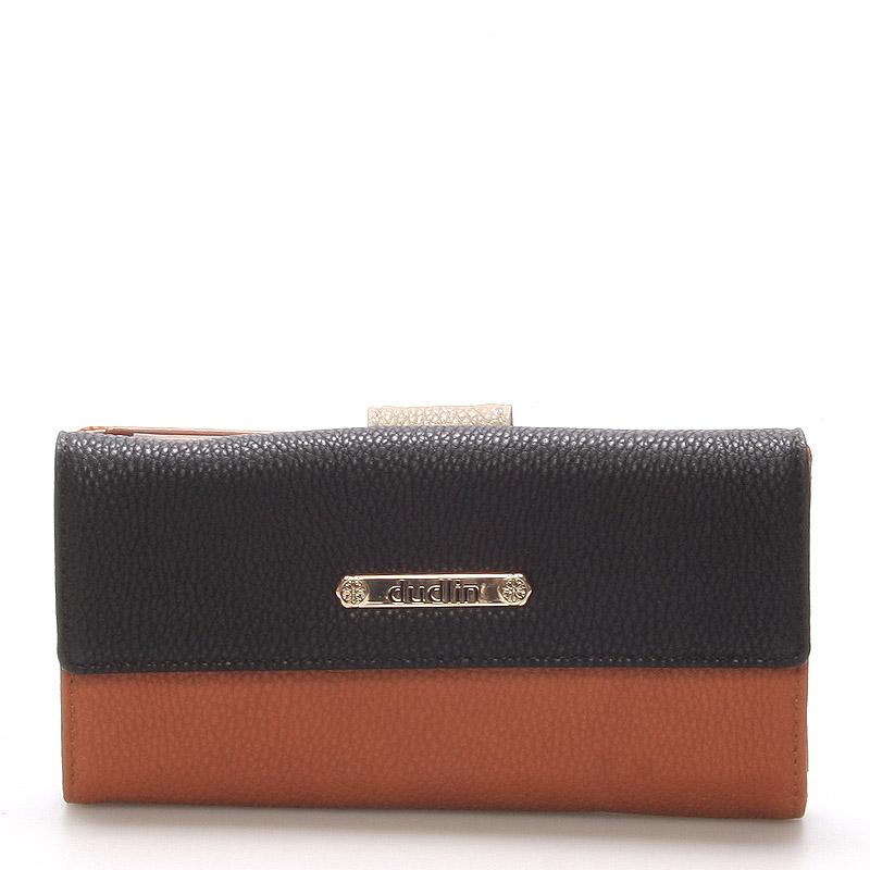 Velká dámská peněženka hnědá - Dudlin M260