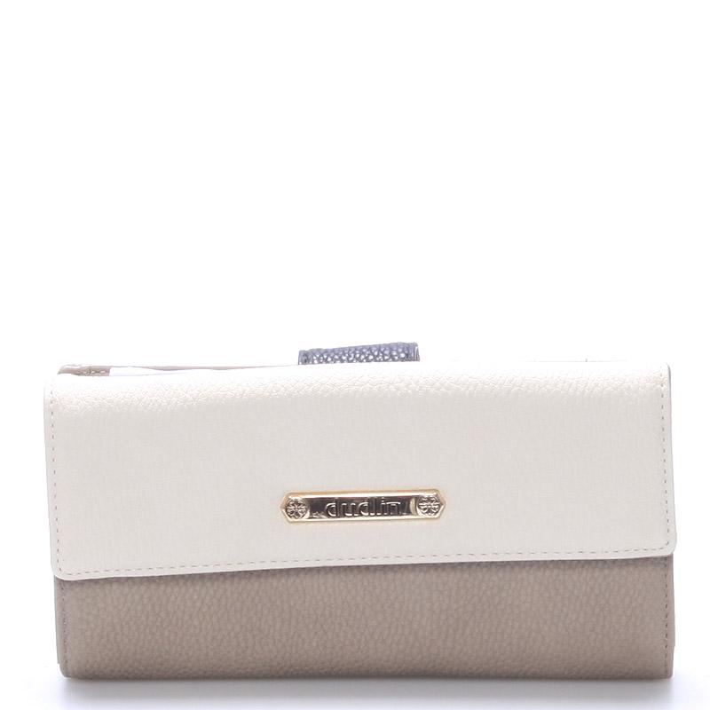 Velká dámská peněženka taupe - Dudlin M260
