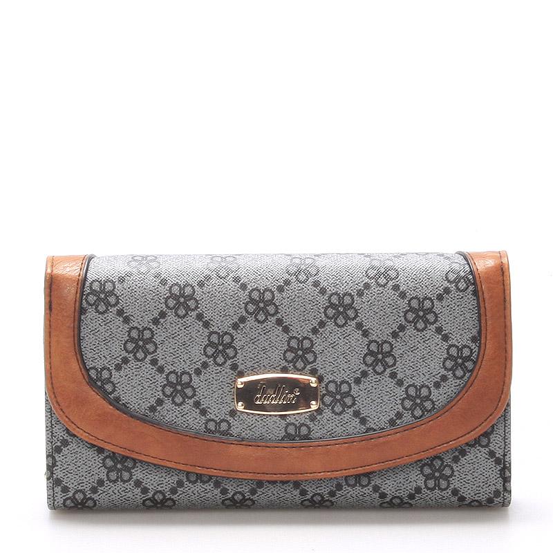 Elegantní dámská velká šedá peněženka - Dudlin M258