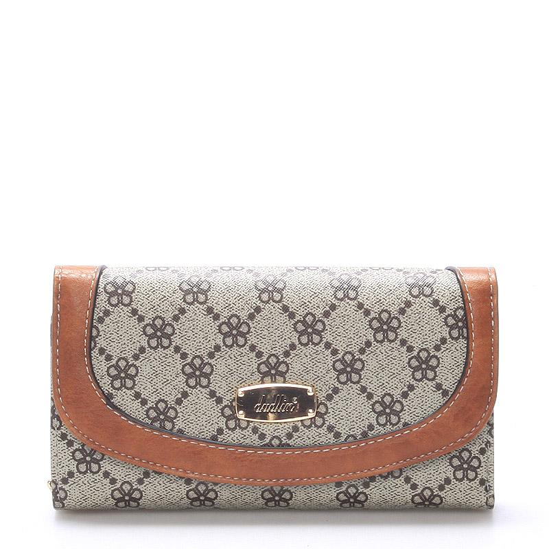 Elegantní dámská velká khaki peněženka - Dudlin M258