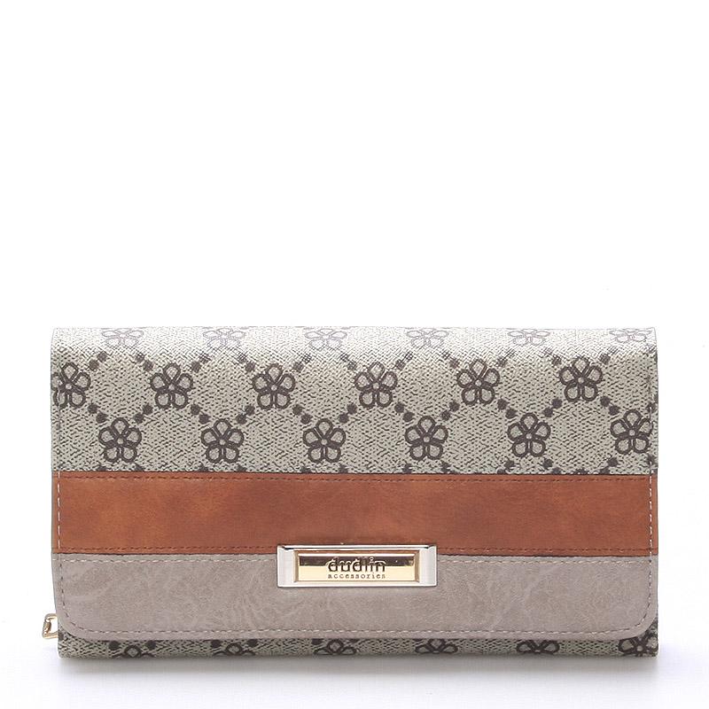 Velká luxusní dámská khaki peněženka - Dudlin M237