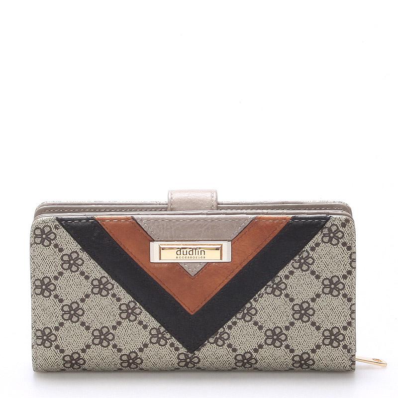 Velká módní dámská khaki peněženka - Dudlin M235