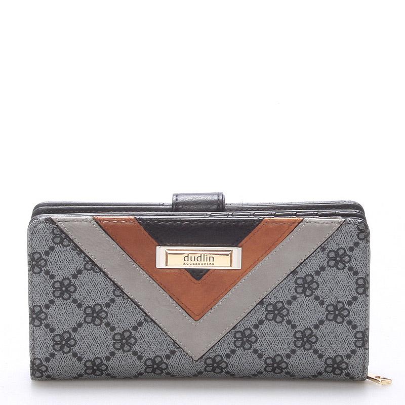 Velká módní dámská šedá peněženka - Dudlin M235