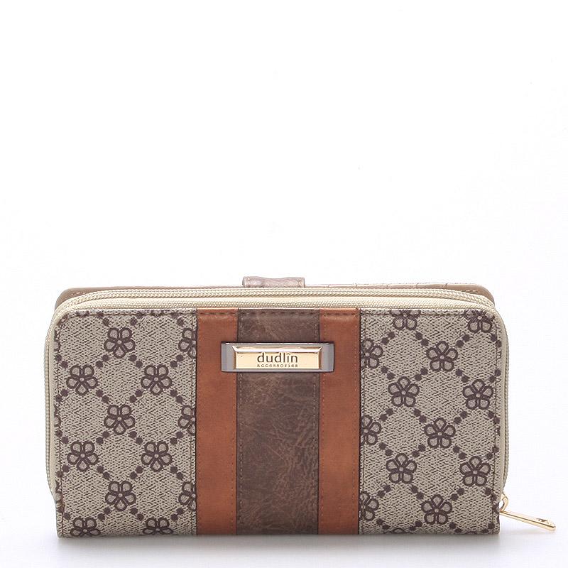 Velká dámská taupe peněženka - Dudlin M231