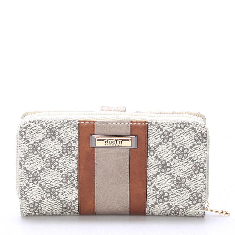 Velká dámská béžová peněženka - Dudlin M231