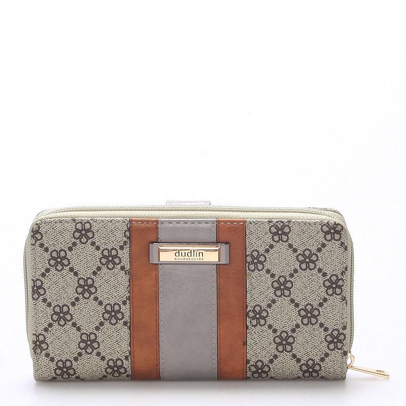Velká dámská khaki peněženka - Dudlin M231