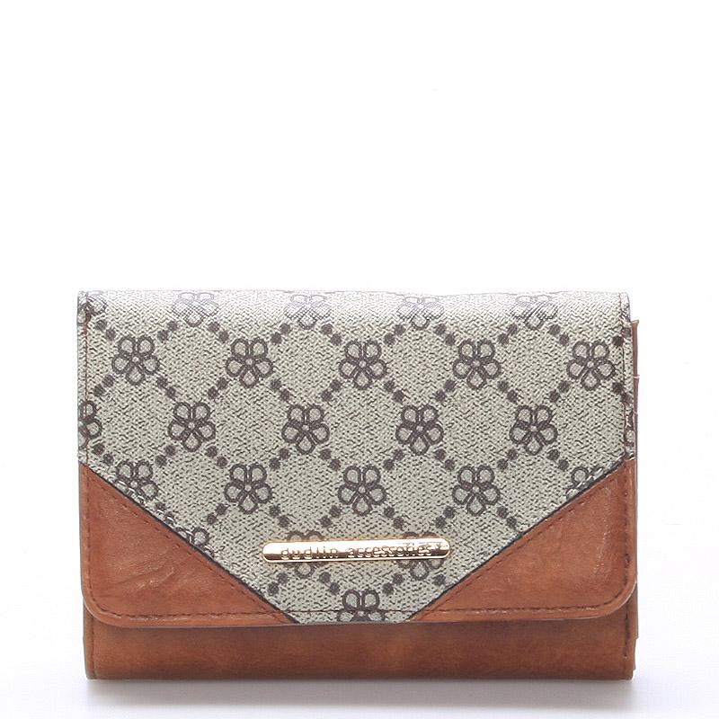 Elegantní větší dámská khaki peněženka - Dudlin M230