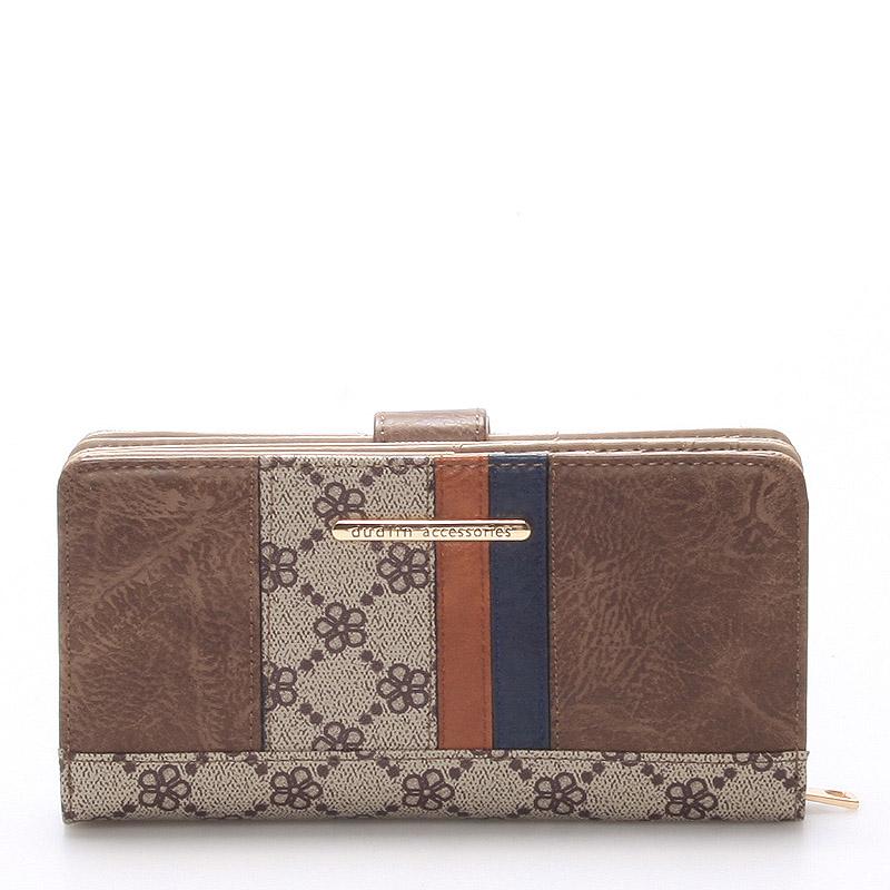 Dámská velká taupe peněženka - Dudlin M234