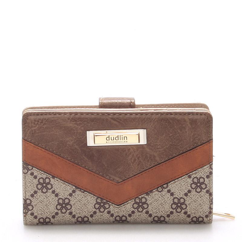 Větší dámská taupe peněženka - Dudlin M232