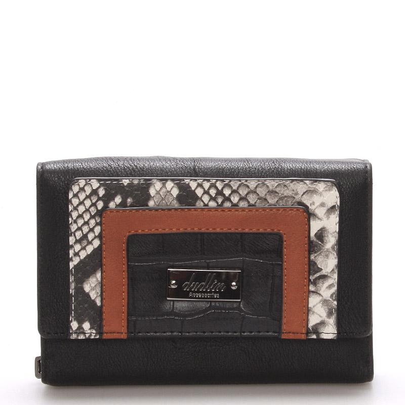 Dámská elegantní černá peněženka - Dudlin M172