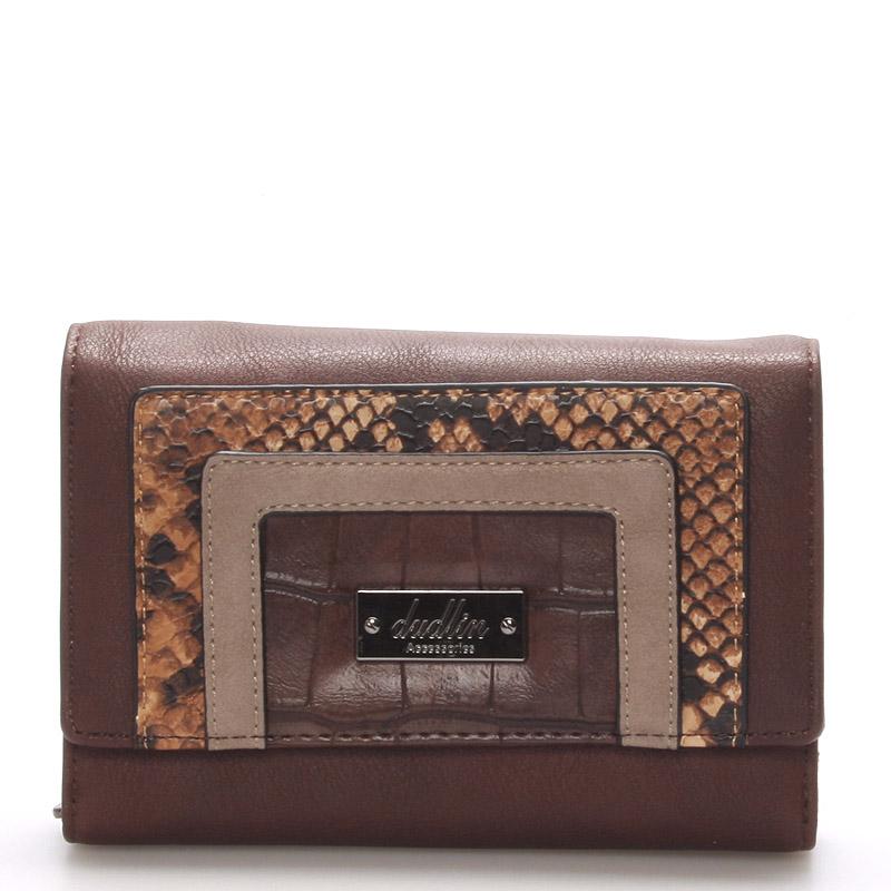 Dámská elegantní tmavě hnědá peněženka - Dudlin M172