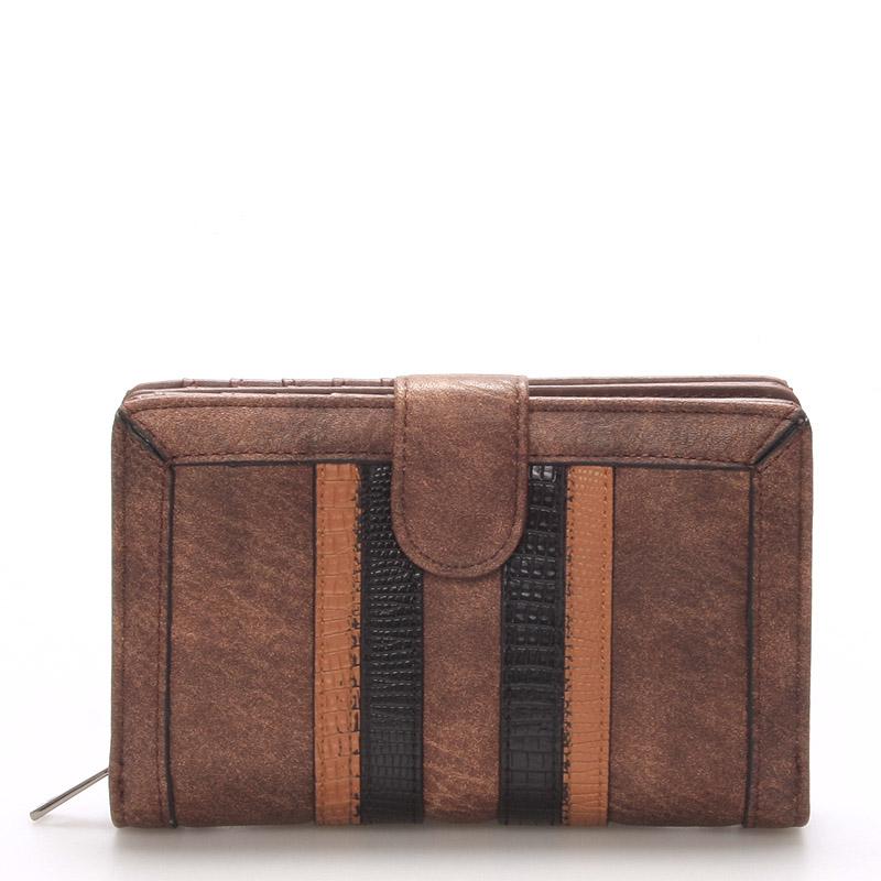 Módní dámská khaki peněženka - Dudlin M193