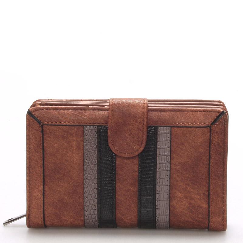 Módní dámská hnědá peněženka - Dudlin M193