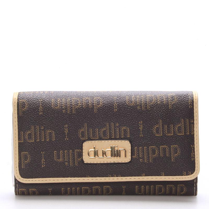 Elegantní hnědo meruňková peněženka - Dudlin M153