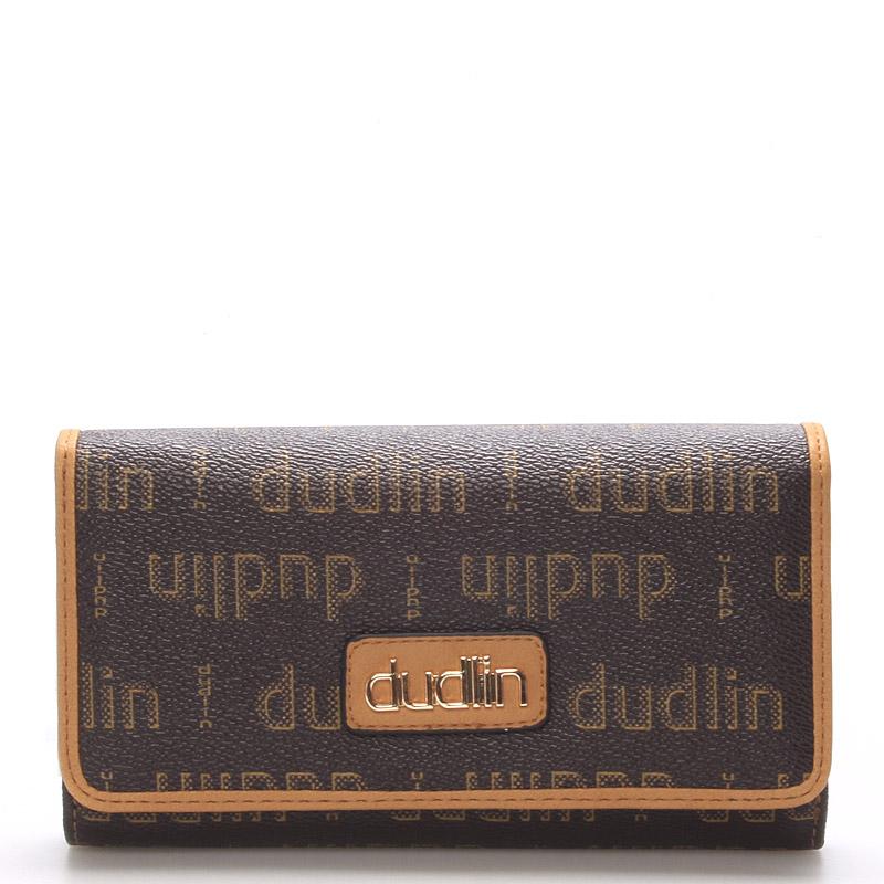 Elegantní dámská hnědá peněženka - Dudlin M153