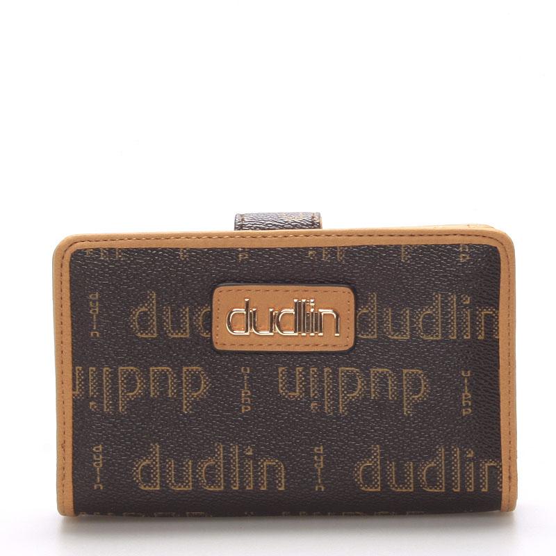 Módní dámská hnědá peněženka - Dudlin M152