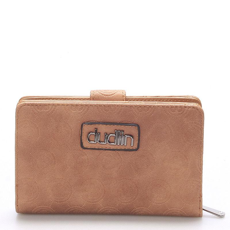 Módní dámská hnědá peněženka - Dudlin M163