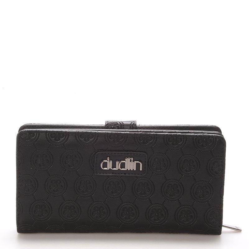 Dámská větší černá peněženka - Dudlin M162