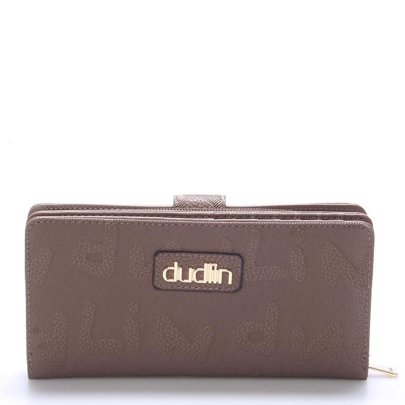 Dámská větší taupe peněženka - Dudlin M155