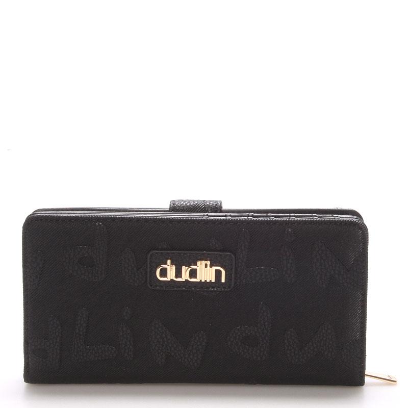 Dámská větší černá peněženka - Dudlin M155