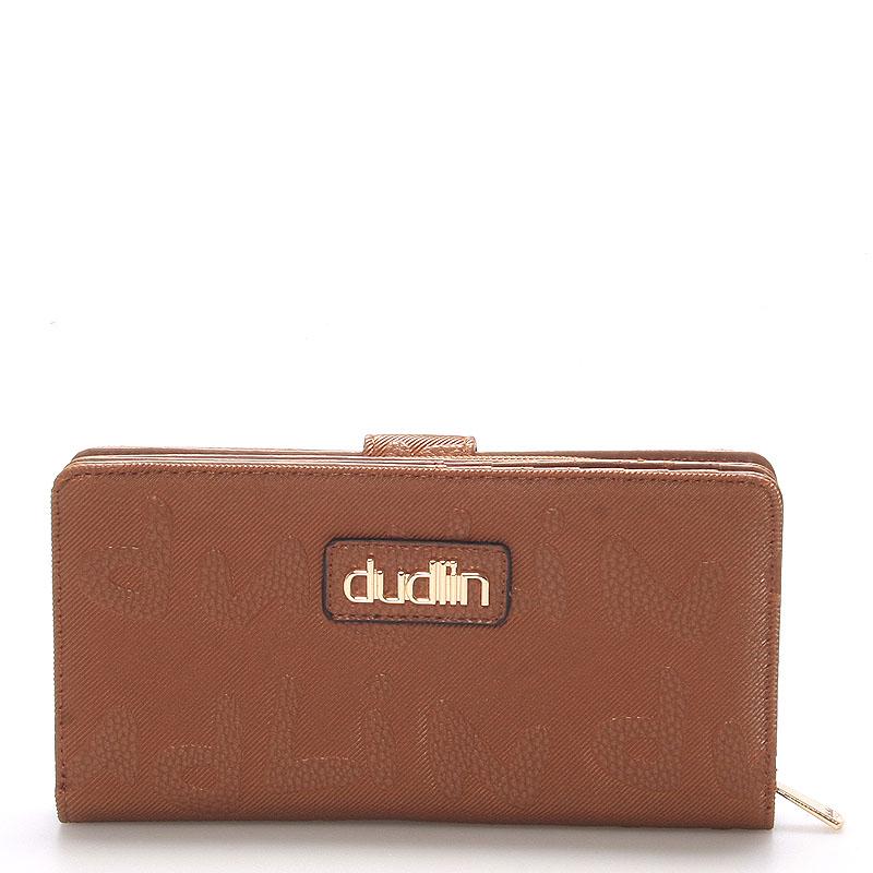 Dámská větší hnědá peněženka - Dudlin M155