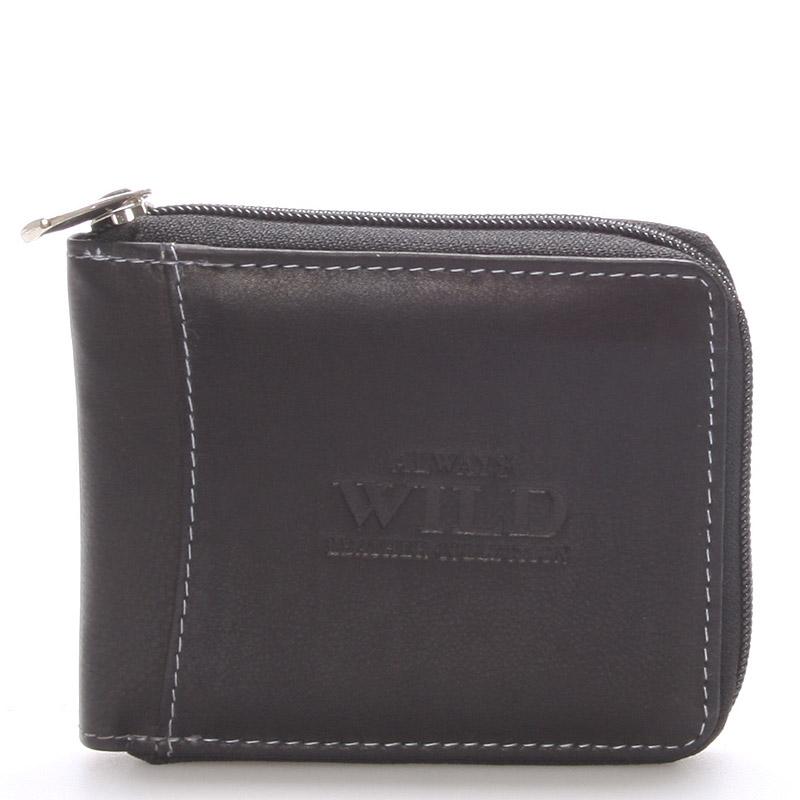Pánská kožená peněženka černá - WILD Troy