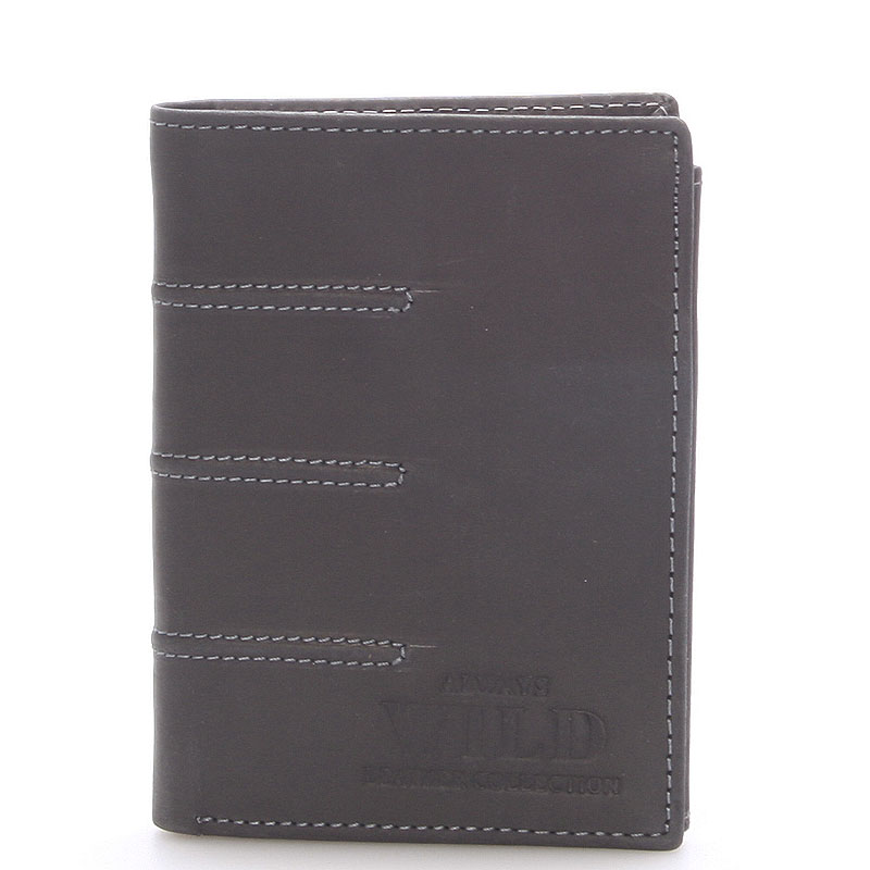 Pánská kožená peněženka černá - WILD Dyson