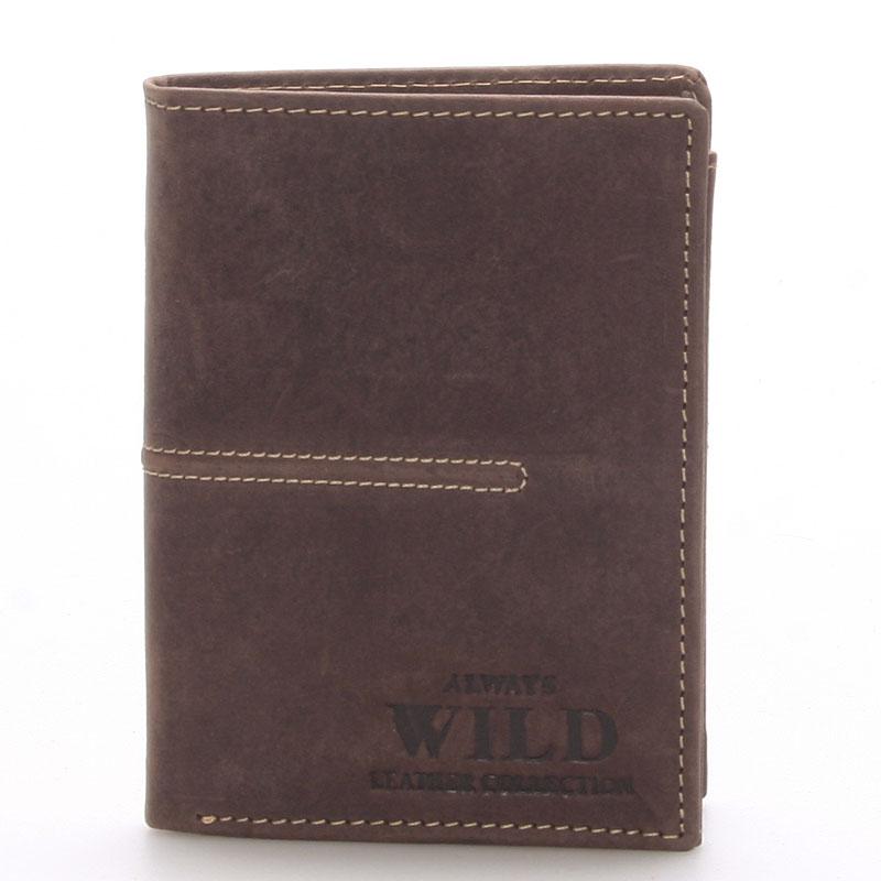 Pánská kožená peněženka hnědá - WILD Deveral