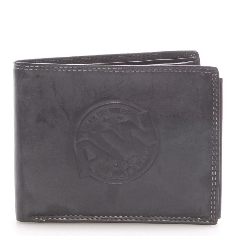 Pánská kožená peněženka černá - WILD Beaufort