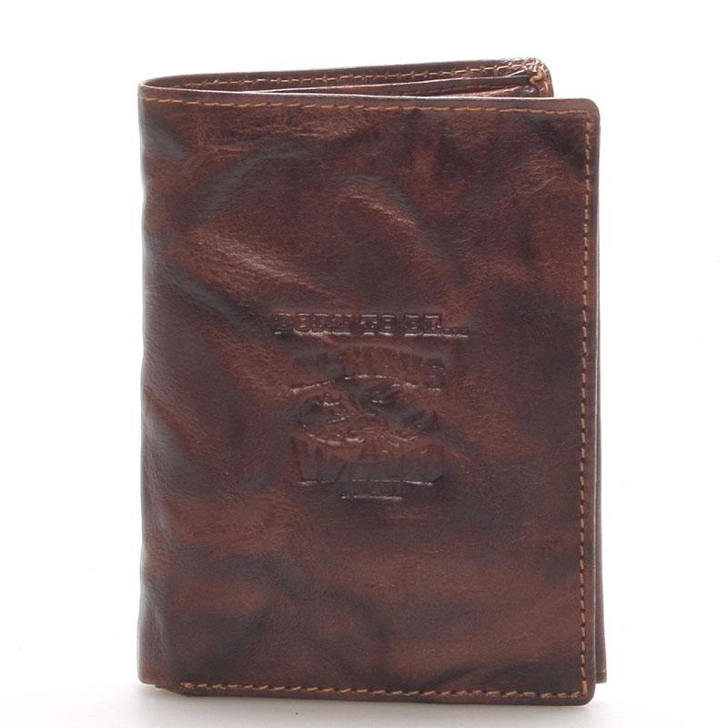 Pánská kožená peněženka hnědá - WILD Destin