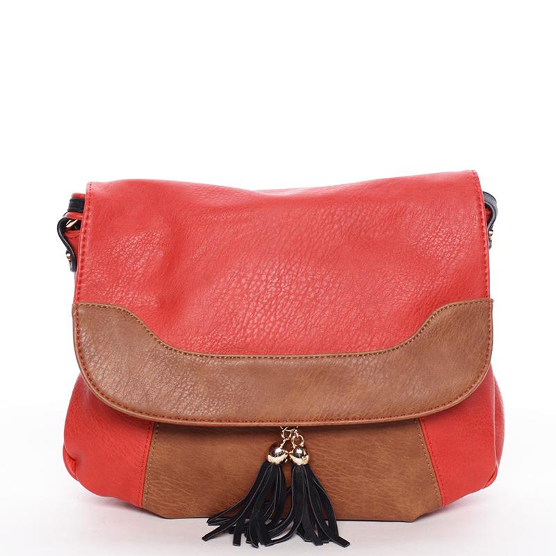 Originální dámská crossbody kabelka červená - Dudlin Harriet