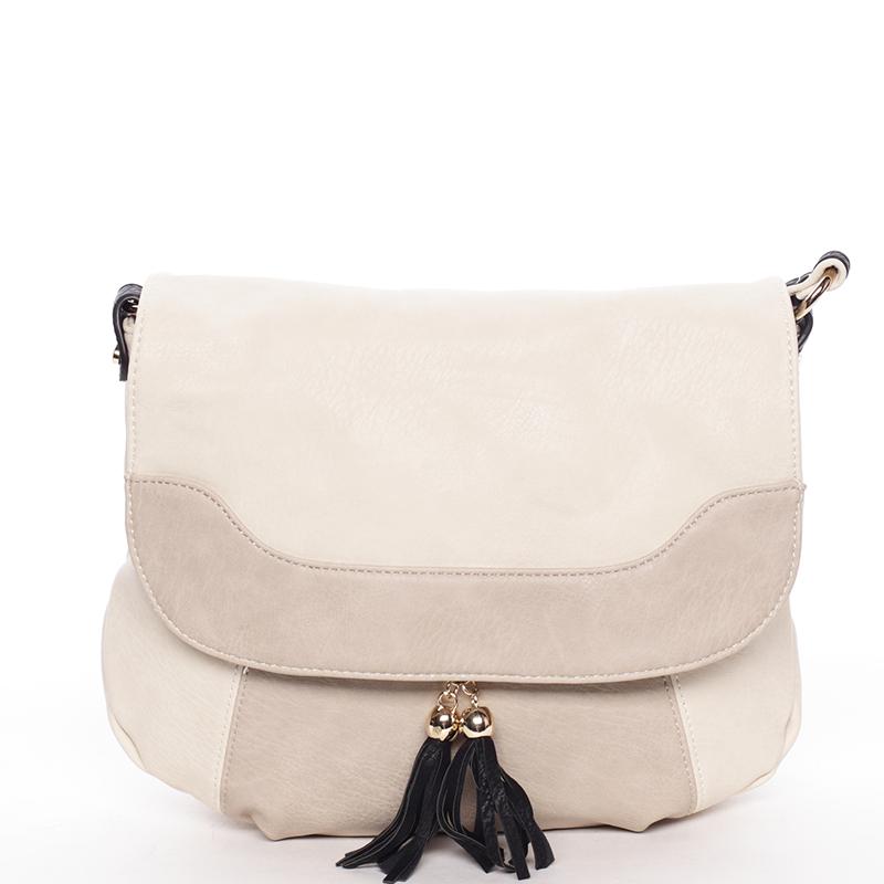 Originální dámská crossbody kabelka béžová - Dudlin Harriet