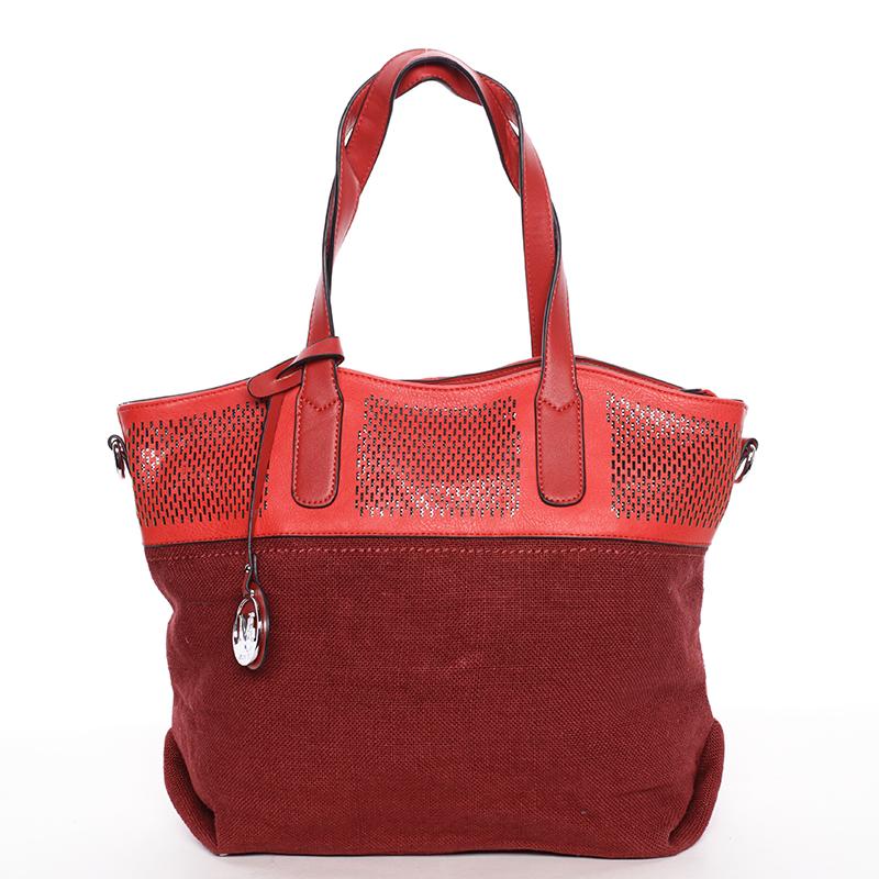 Originálni dámská kabelka přes rameno červená - MARIA C Zuri