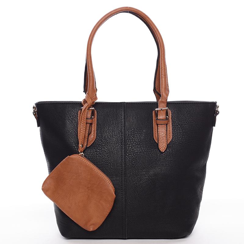 Elegantní dámská kabelka přes rameno černá - Dudlin Capucine