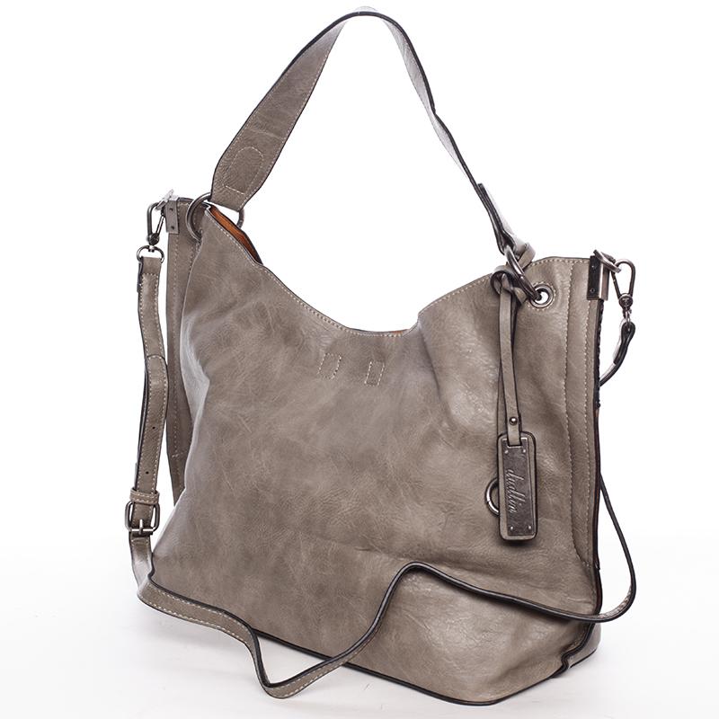 Módní dámská kabelka přes rameno olivová - Dudlin Pierretta