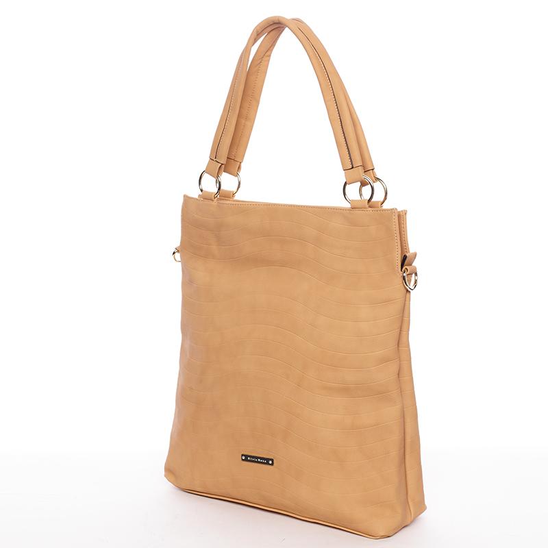 Módní dámská kabelka přes rameno hnědá - Silvia Rosa Raison