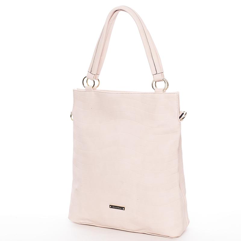 Módní dámská kabelka přes rameno růžová - Silvia Rosa Raison